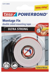 Kahepoolne teip tesa Ultra Strong 1,5mx19mm