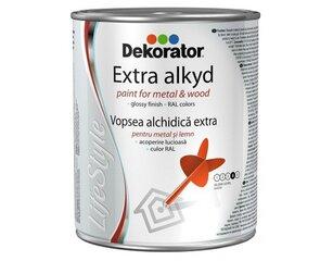 Läikiv alküüd email Dekorator Ekstra Life-Style, valge, RAL 9017, 2,5l hind ja info | Värvid | kaup24.ee