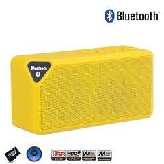 Kaasaskantav kõlar Jambox X3S BT4.1 FM/microSD/AUX/USB, Kollane