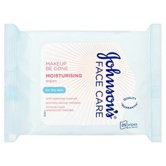 Влажные салфетки для снятия макияжа Johnsons Moisturise 25 шт.