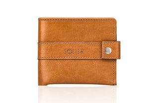 Meeste rahakott Solier SW05, pruun