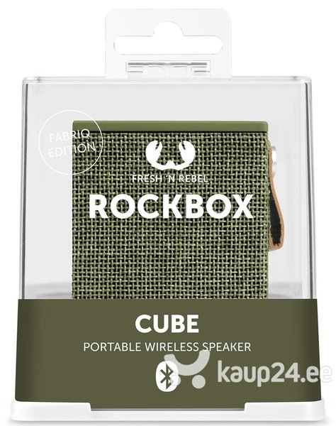 Bluetooth колонка FRESHN REBEL Rockbox Cube, Army цена
