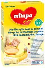 Riisi-banaanipuder piimaga Milupa 4+ kuud, 250 g