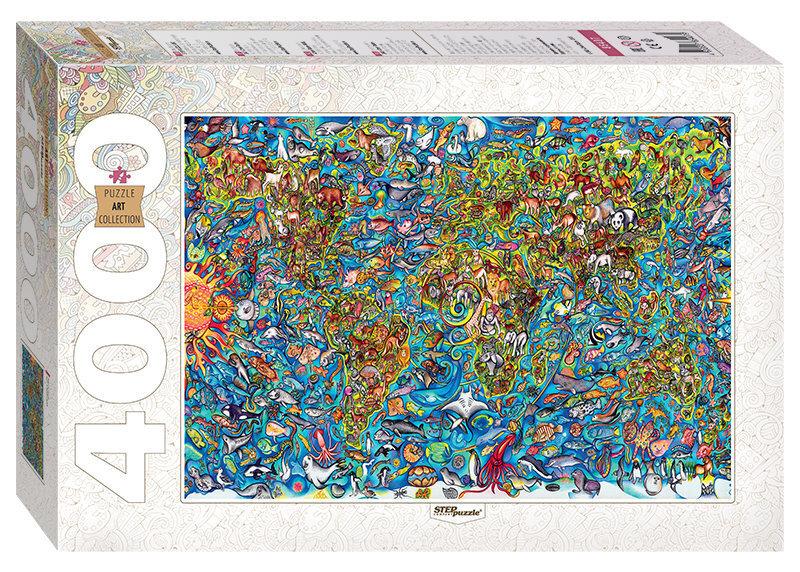 Pusle Step Puzzle 4000, Maailma kaart