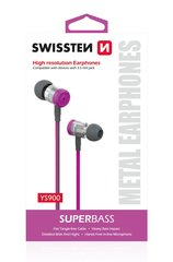 Kõrvaklapid Swissten SuperBass Metal YS900, Roosa