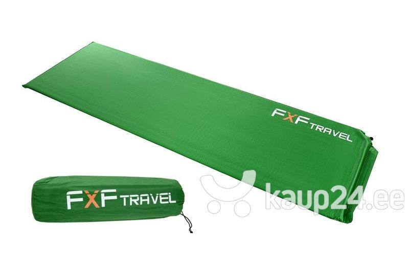 Isetäituv madrats FXF Travel, 185x56 cm, roheline