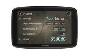 GPS seade TomTom GO PROFESSIONAL 6200 wifi /1 year Traffic EU
