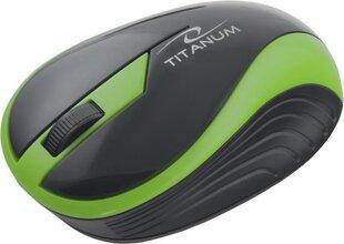 Juhtmeta optiline hiir Titanum 3D TM113G BUTTERFLY| 2.4 GHz | 1000 DPI | roheline