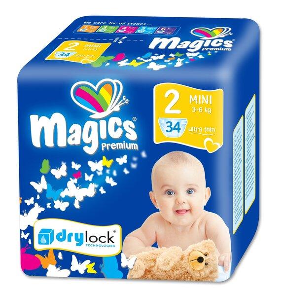 Mähkmed Magics Premium Mini Nr.2, 3-6 kg, 34 tk