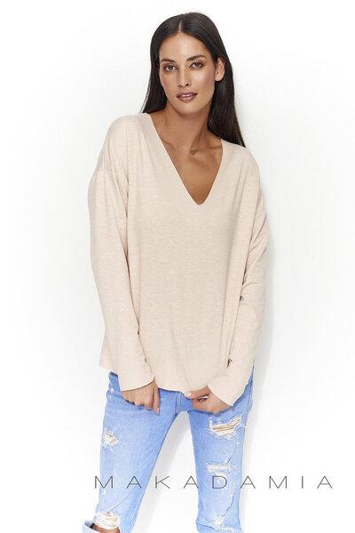 Naiste sviiter Numinou by Makadamia NU56, helepruun