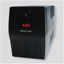 AEG UPS Protect alpha. 600/ 600VA, 360W/ 4x IEC-320 battery backup and overvoltage protection / Fax. Modem line protection / USB / Automatic Voltage Regulation / Line interactive / Free UPS shutdown software download