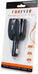 Telefonilaadija Forever 2 x Car Charger Socket Spliiter 12 / 24V hind ja info | Mobiiltelefonide laadijad | kaup24.ee