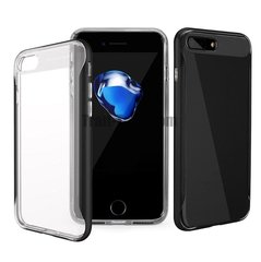 Kaitseümbris Baseus Fusion Case Impact Silicone Case for Apple iPhone 7 Plus Transparent - Black