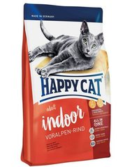 Kuivtoit kassidele Happy Cat Indoor veiselihaga, 1,4 kg​