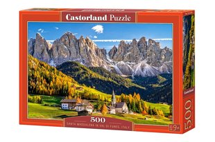Pusle Puzzle Castorland Santa Maddalena in Val di Funes Italy, 500 osa