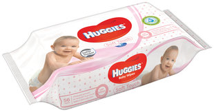 Niisked salvrätikud HUGGIES Soft Touch, 56tk