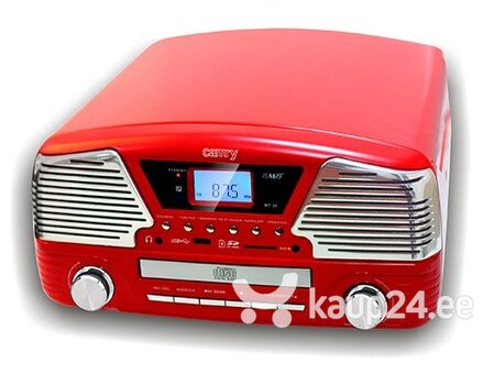 Plaadimängija Camry CR 1134 r Turntable CD/MP3/USB/SD/recording, 3W RMS