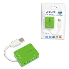 Logilink UA0138 USB 2.0 Hub 4-port, Smile, green