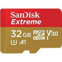 Mälukaart seikluskaamerale SANDISK Secure Digital micro Extreme Action Camera 32GB 100MB/s A1/Class 10 /V30/UHS-I/U3