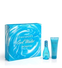 Komplekt Davidoff Cool Water: EDT naistele 50 ml + ihupiim 75 ml