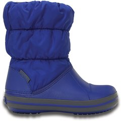 Poiste talvesaapad Crocs™ Winter Puff Boot Kids, Blue/Light grey