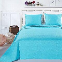 Kahepoolne voodikate + padjad Elodie Turquoise, 240x260 cm