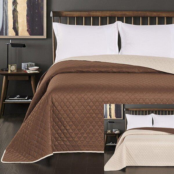 Kahepoolne voodikate Axel Cream Braun, 170x270 cm hind ja info | Voodikatted, pleedid | kaup24.ee