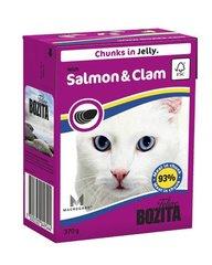 Konserv kassidele Bozita lõhe ja molluskitega, 370 g hind ja info | Konservid kassidele | kaup24.ee