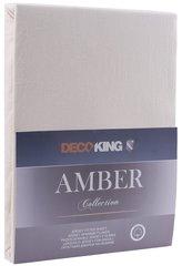 Kummiga voodilina DecoKing Jersey Amber Cream, 200x220 cm hind ja info | Voodilinad | kaup24.ee