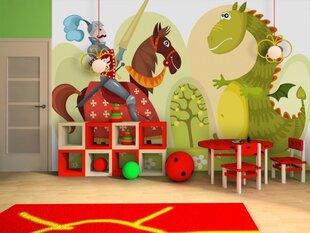 Fototapeet Draakon ja ratsu hind ja info | Lastetoa fototapeedid | kaup24.ee