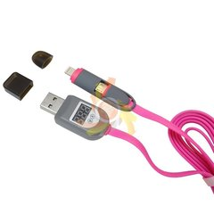 Kaabel micro USB - USB/Lightning (K784A), 2in1 LCD
