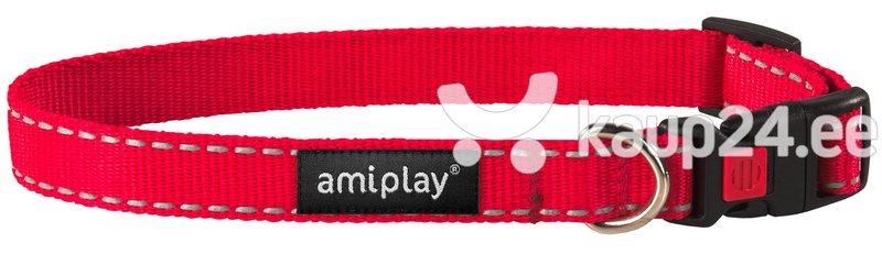 Kaelarihm lukuga Amiplay Reflective, L, punane